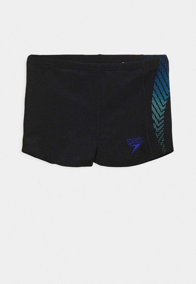 PLASTISOL PLACEMENT AQUASHORT - Swimming trunks - black/blue flame/light adriatic