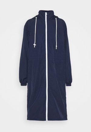 Classic coat - navy blue/white