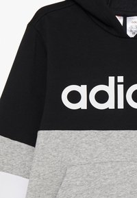 adidas Performance - Bluza z kapturem - black/medium grey heather/white - 2
