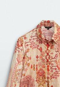 Massimo Dutti - Button-down blouse - ochre - 5