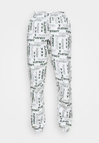 Missguided - PLAYBOY LOGO JOGGER - Tracksuit bottoms - grey marl - 4