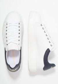 Emporio Armani - Trainers - optical white/navy - 1