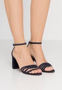 HUGO - APRIL - Sandals - dark blue - 0