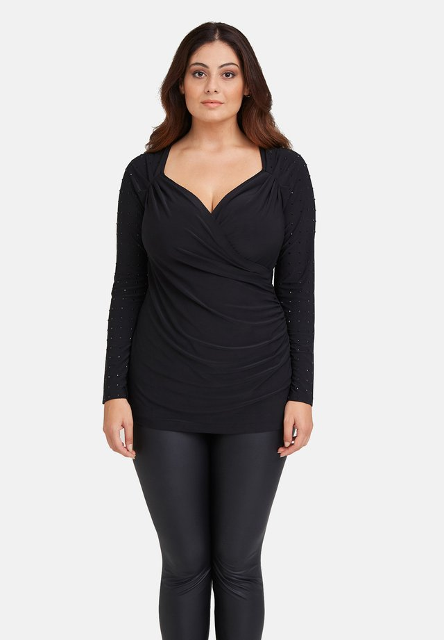 CON BORCHIE - Long sleeved top - nero