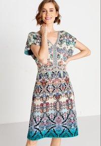 Ivko - JACQUARD DRESS, - Day dress - blue/beige - 0