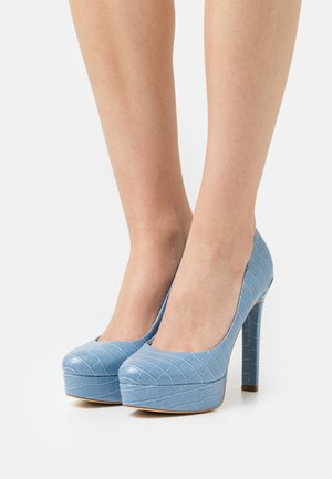 DEARLY - Zapatos de plataforma - blue
