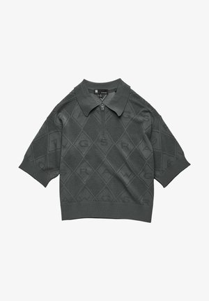 POINTELLE KNITTED - Poloshirt - graphite