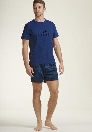 Pyjama set - light blue/mottled light blue