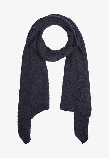 Scarf - dark blue knit