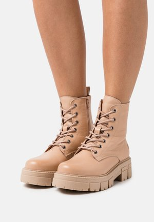 CASTLE - Lace-up ankle boots - nude