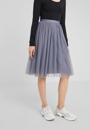 DOTTED MIDI SKIRT - A-Linien-Rock - thistle blue