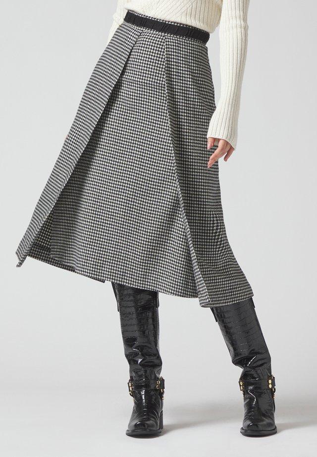 A-line skirt - panna-nero