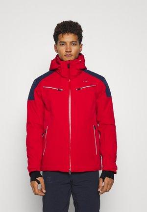 MEN FORMULA JACKET - Ski jacket - red/dark blue