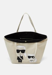 KARL LAGERFELD - IKONIK KARL CHOUPETTE TOTE - Shopping Bag - natural - 6