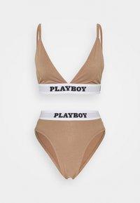 Missguided - PLAYBOY SET - Triangel BH - brown - 4