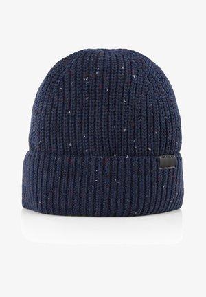 Beanie - navy  multi nep yarn