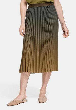 Pleated skirt - olive poison druck