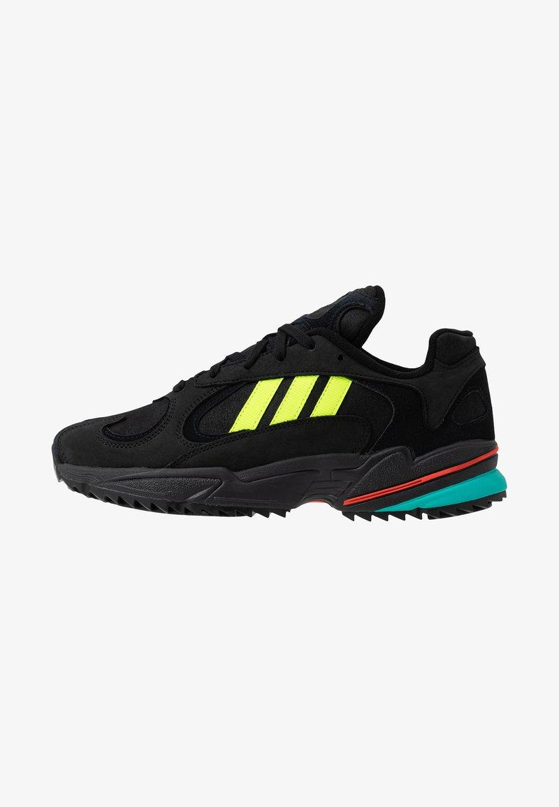 adidas Originals - YUNG-1 TRAIL - Sneakers - core black/solar yellow/aqua