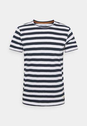 JORTONS STRIPE TEE CREW NECK - Print T-shirt - navy blazer