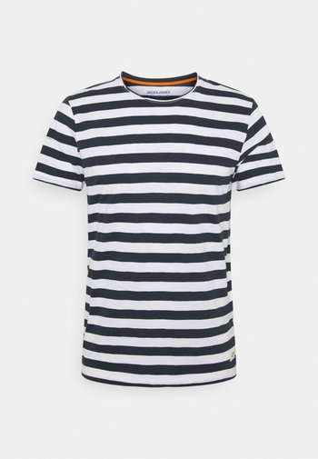 JORTONS STRIPE TEE CREW NECK - Triko spotiskem - navy blazer