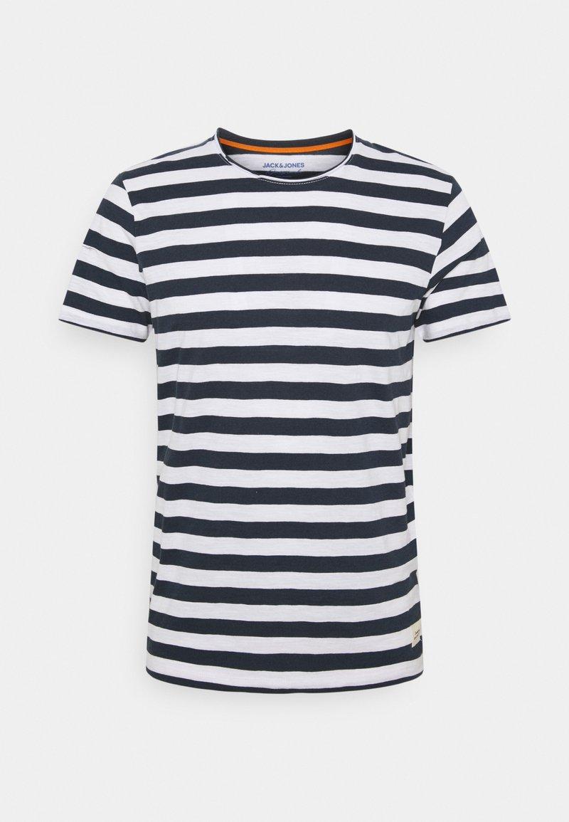 Jack & Jones - JORTONS STRIPE TEE CREW NECK - Print T-shirt - navy blazer