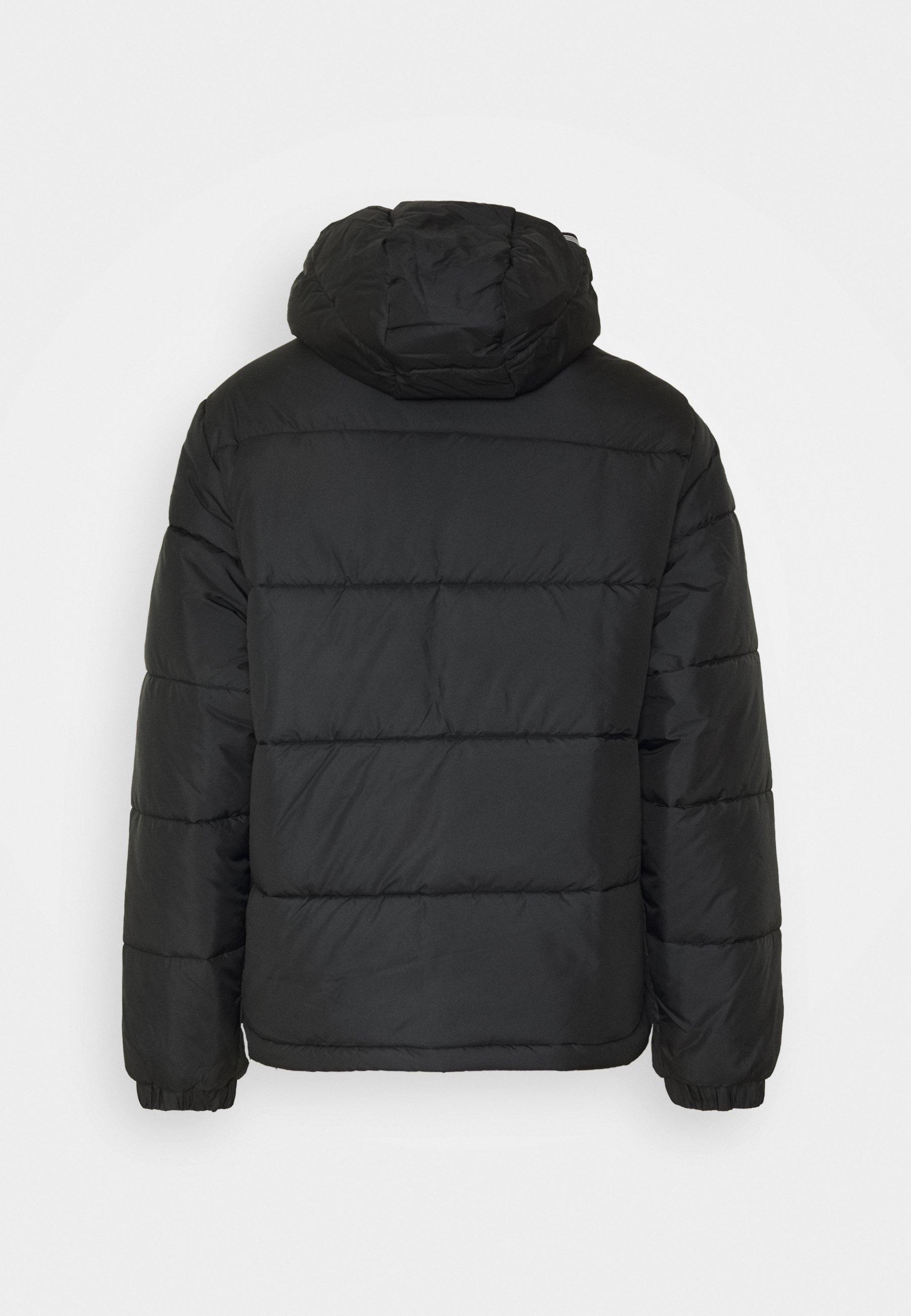 adidas SST Down Hooded Winterjacke black: : Bekleidung