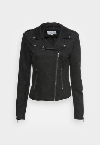 VIFADDY JACKET - Faux leather jacket - black