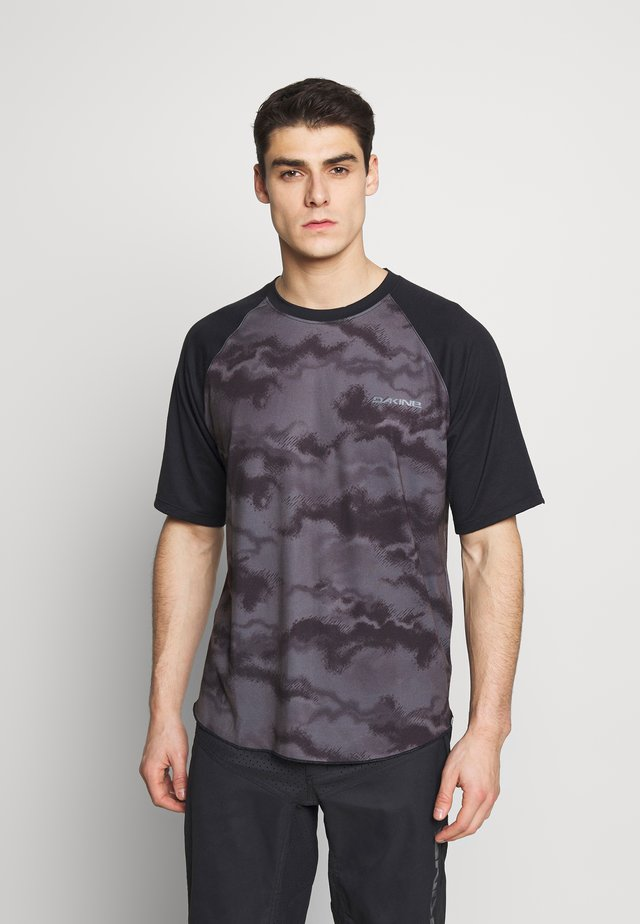 DROPOUT  - Print T-shirt - black/dark ashcroft