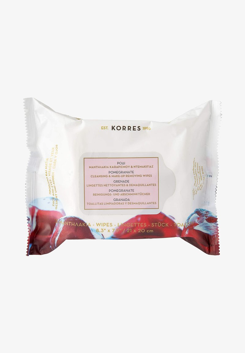 Korres - POMEGRANATE CLEANSING & MAKE-UP REMOVING WIPES 25 PIECES - Cleanser - neutral