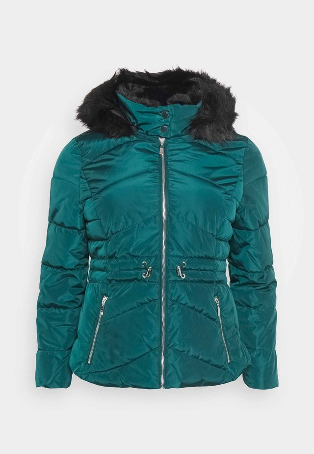 LUXE HOODED SHORT PADDED COAT - Veste d'hiver - forest green