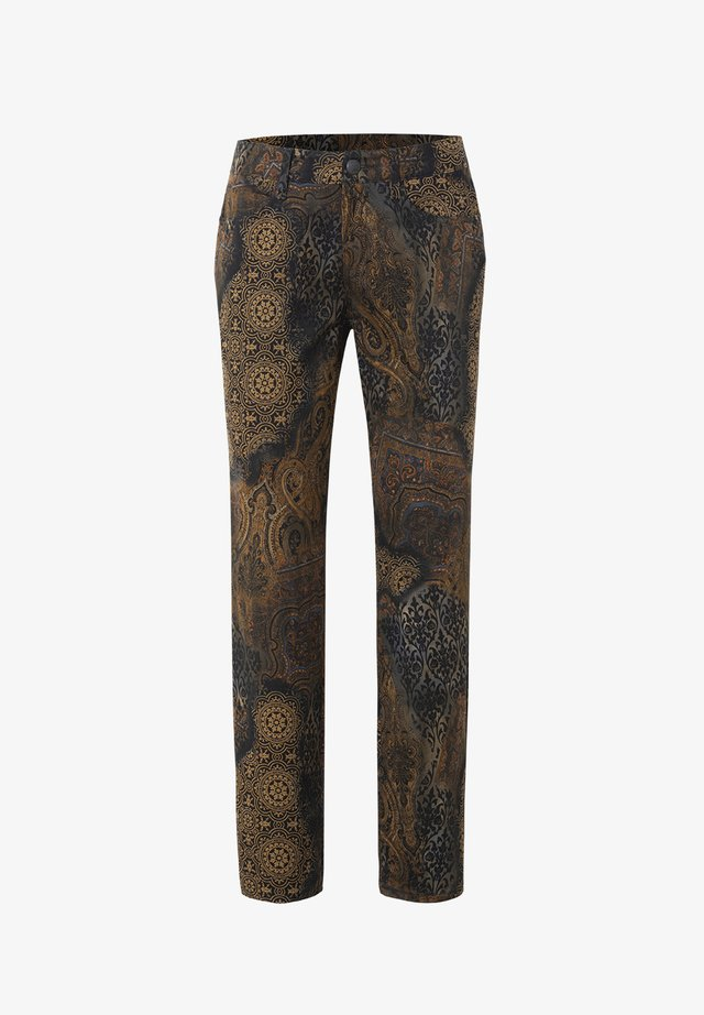 PEGGY-760W 90956 FIVE-POCKET - Trousers - dunkelbraun