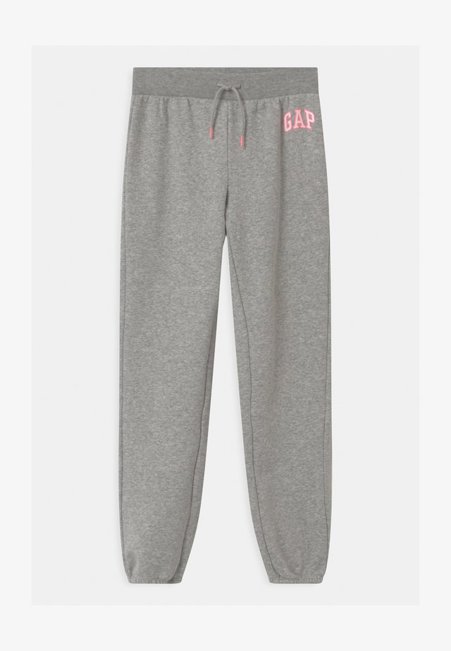 GIRL LOGO - Tracksuit bottoms - grey