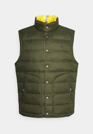 DENVER VEST - Waistcoat - dark sage/slicker yellow