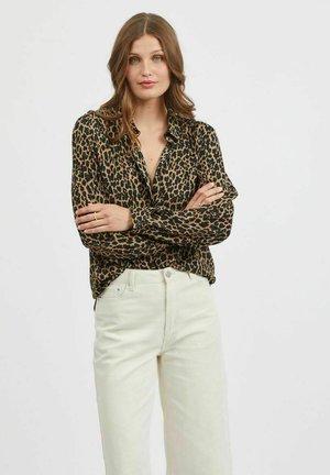 VILUCY BUTTON - Button-down blouse - tigers eye