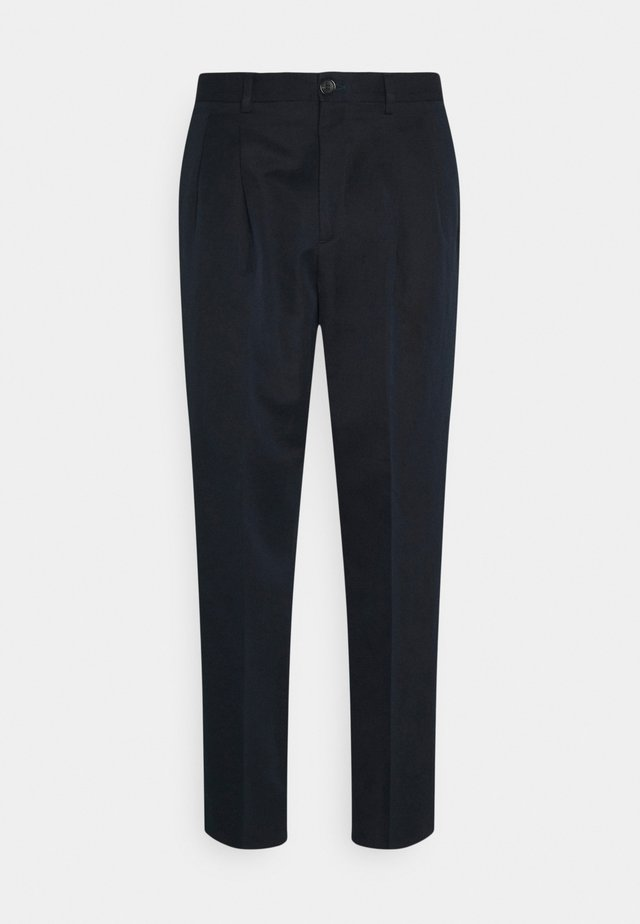 MENS TROUSER PLEAT FRONT - Kalhoty - navy