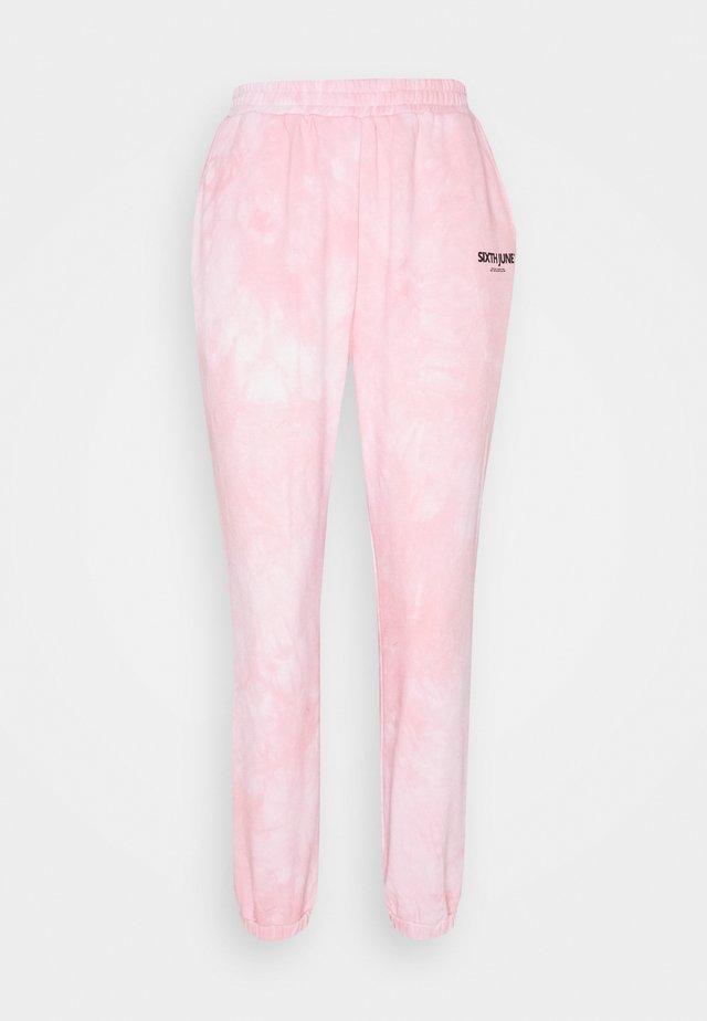 TIE DYE - Teplákové kalhoty - pink