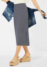 Street One - MIT STREIFEN - Pencil skirt - blau - 0