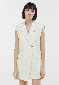 Bershka - ELEGANTES - Waistcoat - white - 0