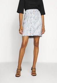 KARL LAGERFELD - CLASSIC SKIRT - A-line skirt - light blue - 0