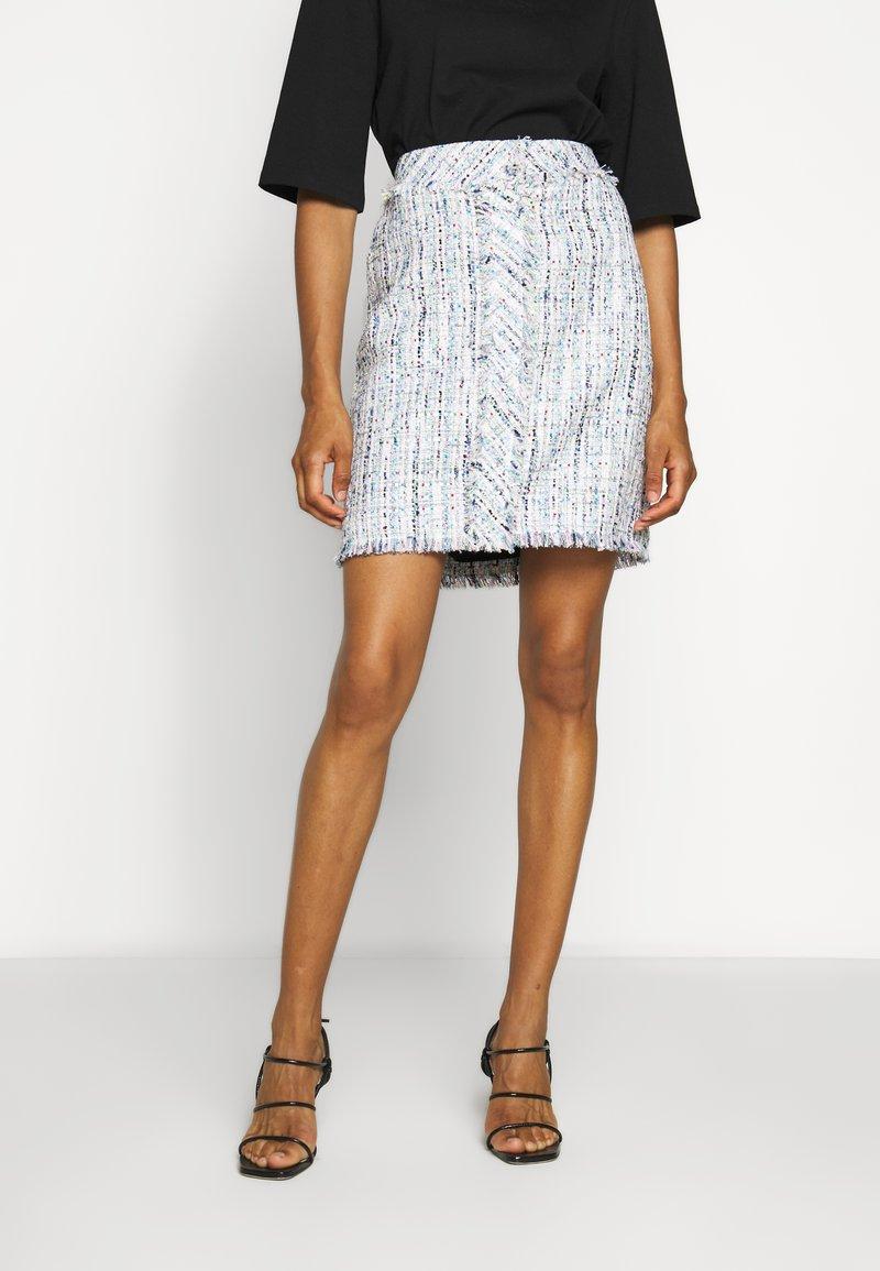 KARL LAGERFELD - CLASSIC SKIRT - A-line skirt - light blue