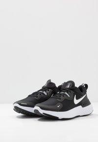 Nike Performance - REACT MILER - Neutral running shoes - black/white/dark grey/anthracite - 2