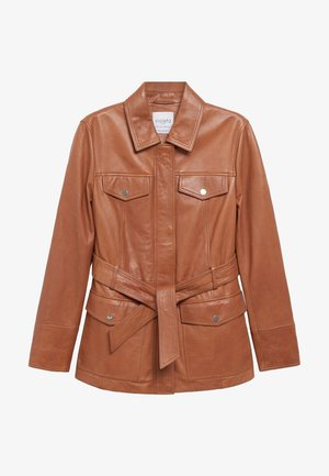 ISABEL - Veste en cuir - brown