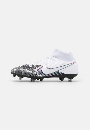 MERCURIAL 7 ACADEMY MDS SGPROAC - Screw-in stud football boots - white/black