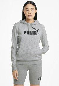 Puma - Felpa con cappuccio - light gray heather - 0