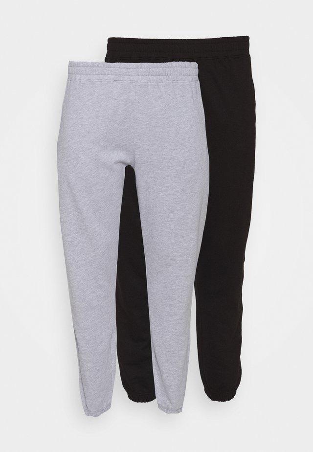 JOGGER 2 PACK - Pantaloni sportivi - black/grey