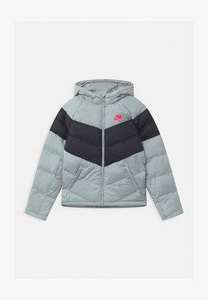 UNISEX - Winter jacket - light smoke grey/black/bright crimson