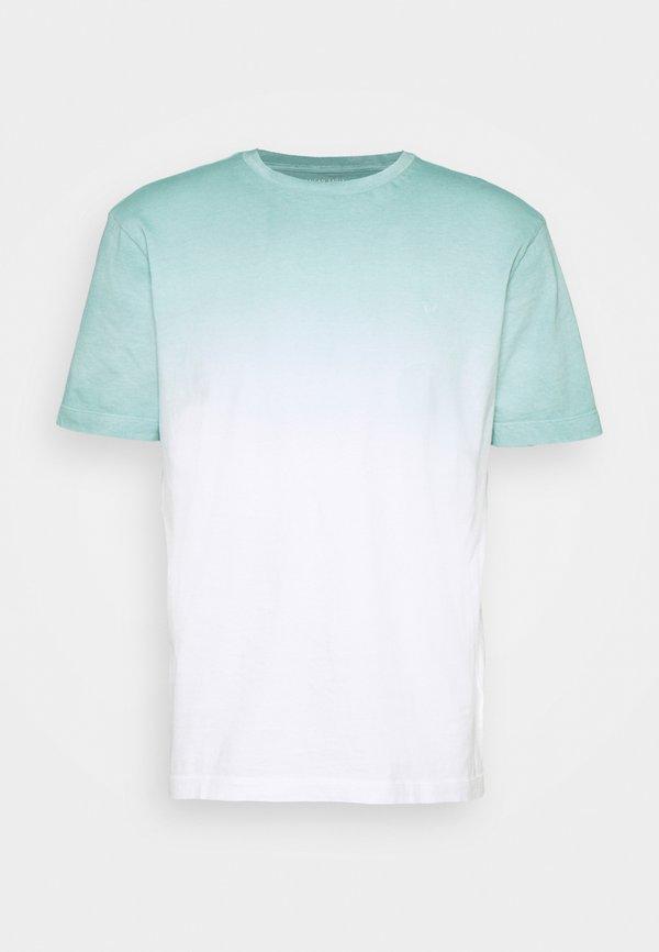 American Eagle DIP DYE TEE - T-shirt z nadrukiem - teal/turkusowy Odzież Męska TSND