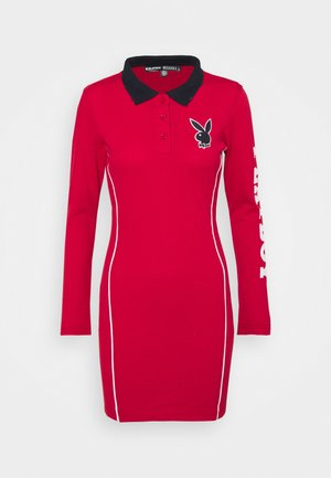 PLAYBOY VARSITY POLO COLLAR  DRESS - Day dress - red
