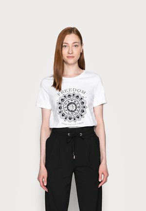 ONLSYMBOL - T-shirt print - white