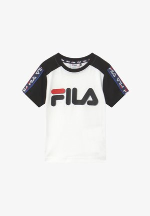 LUIGI TAPED LOGO TEE - Triko s potiskem - bright white/black